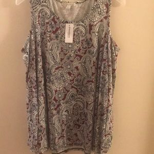 Cold shoulder top from Dress Barn